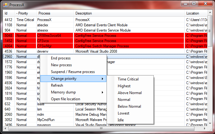 VB NET Process Manager Source Code | Yasar's Base